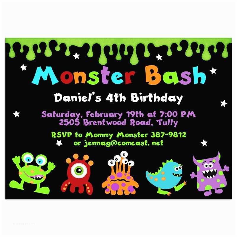 Monster Birthday Invitations Monster Birthday Invitations – Gangcraft