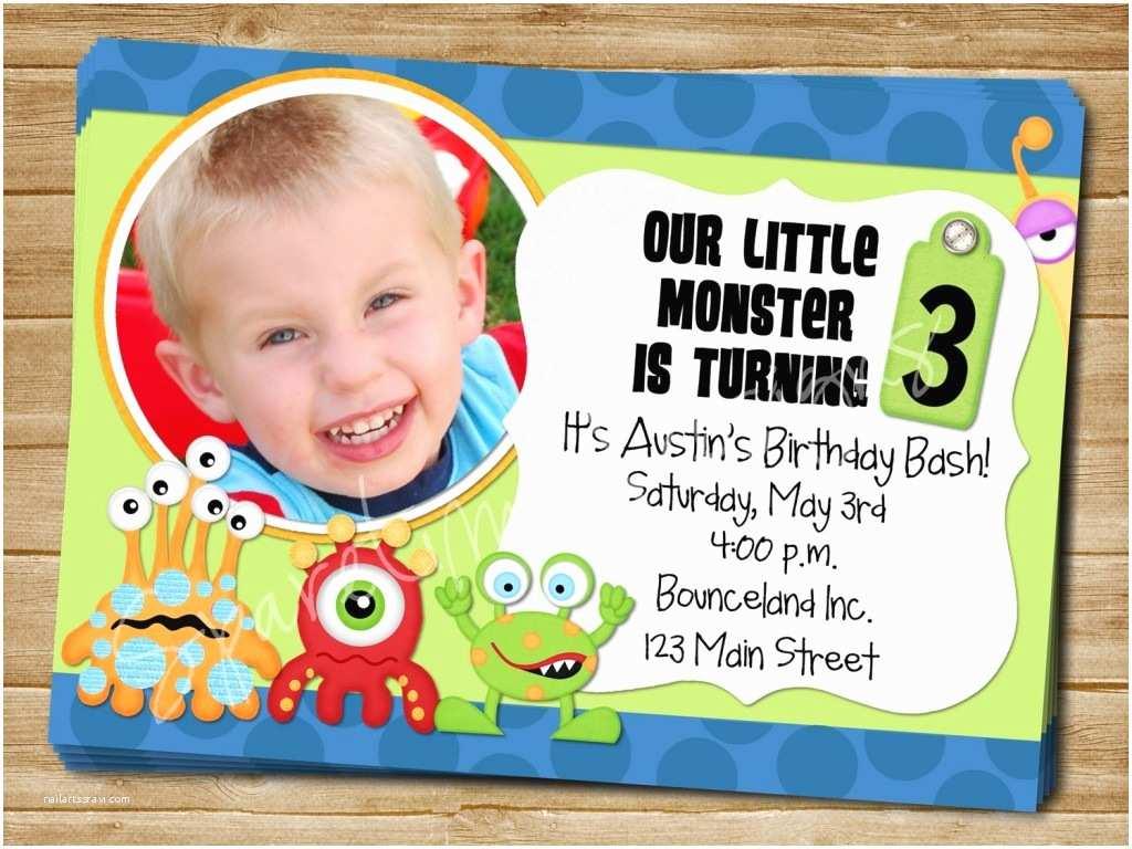 Monster Birthday Invitations Monster Birthday Invitations Ideas – Bagvania Free