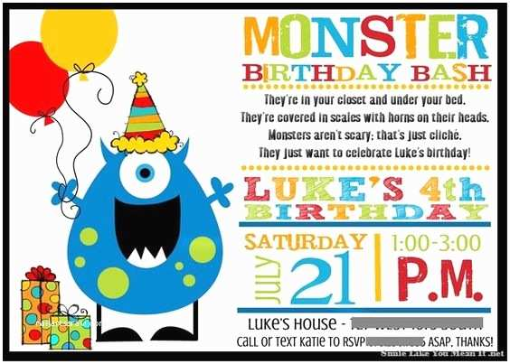 Monster Birthday Invitations Pinterest • the World's Catalog Of Ideas