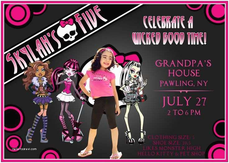 Monster High Birthday Invitations Invitation