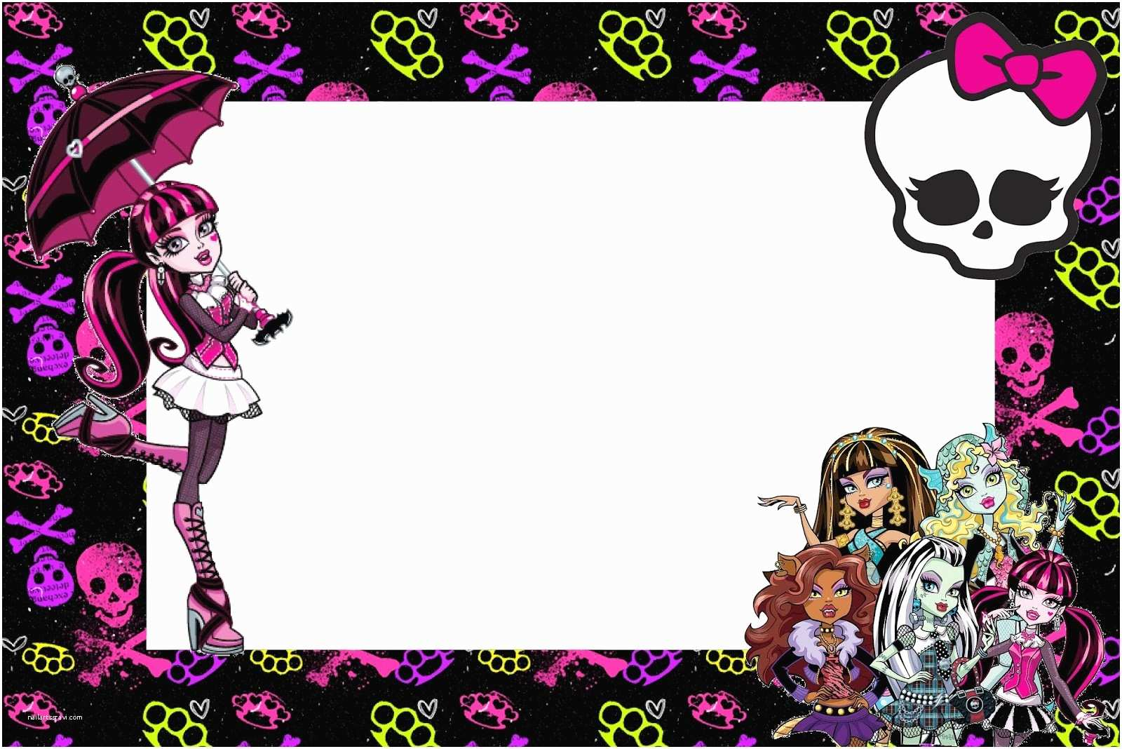 Monster High Birthday Invitations Free Printable Party