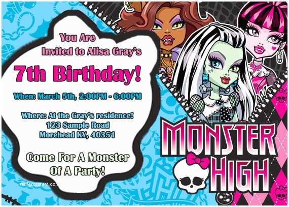 Monster High Birthday Invitations Unavailable Listing On Etsy