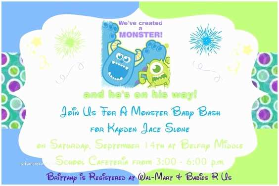 Monster Inc Baby Shower Invitations We and Babies On Pinterest