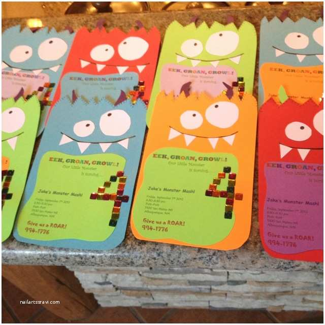Monster Party Invitations 25 Best Ideas About Monster Birthday Invitations On