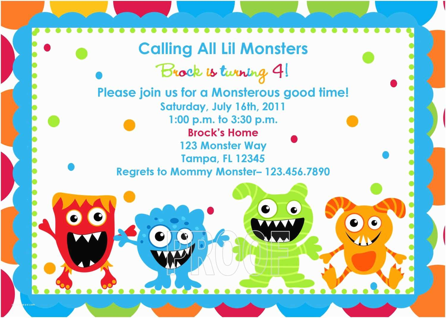 Monster Party Invitations Adorable Monster Birthday Invitations