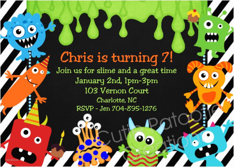 Monster Party Invitations Monster Birthday Invitation 1st Birthday Monster Party