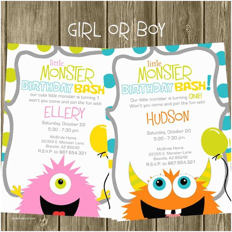 Monster Party Invitations Monster Birthday Party Invitation