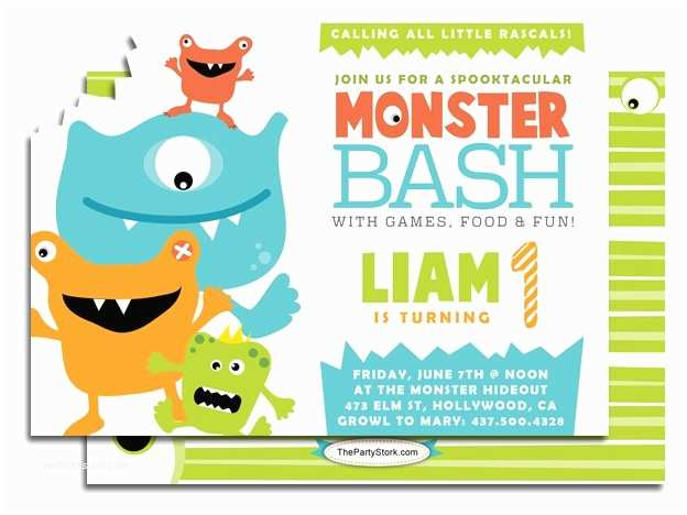 Monster Party Invitations Monster Birthday Party Invitations – Gangcraft