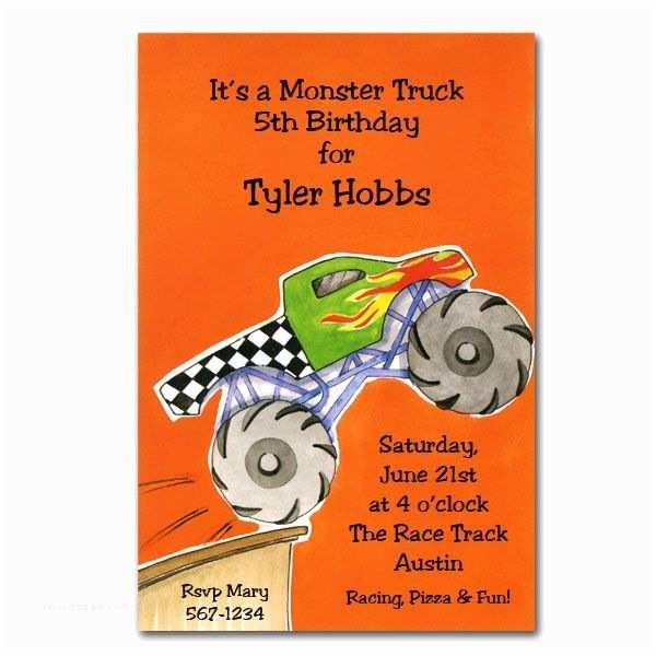 Monster Truck Birthday Invitations Monster Truck Birthday Invitations