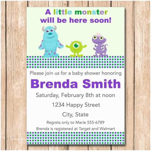 Monsters Inc Baby Shower Invitations Monsters Inc Baby Shower Invites