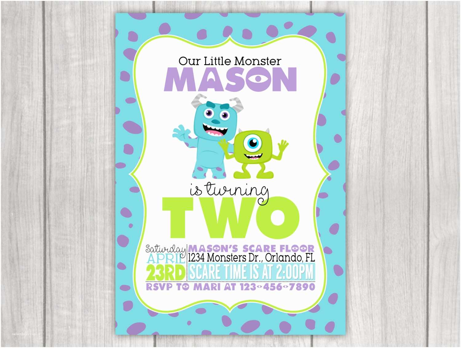 monsters inc inspired birthday
