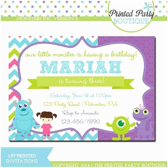 Monsters Inc Birthday Invitations Pin by Debbie Visovsky On Monsters Inc Party