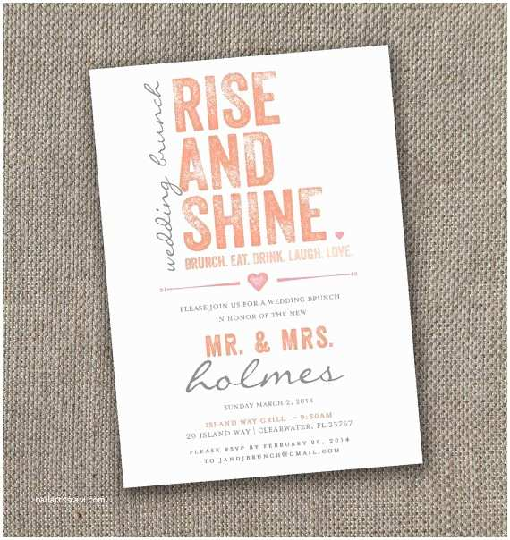 Morning Wedding Invitations 17 Best Ideas About Brunch Wedding Receptions On