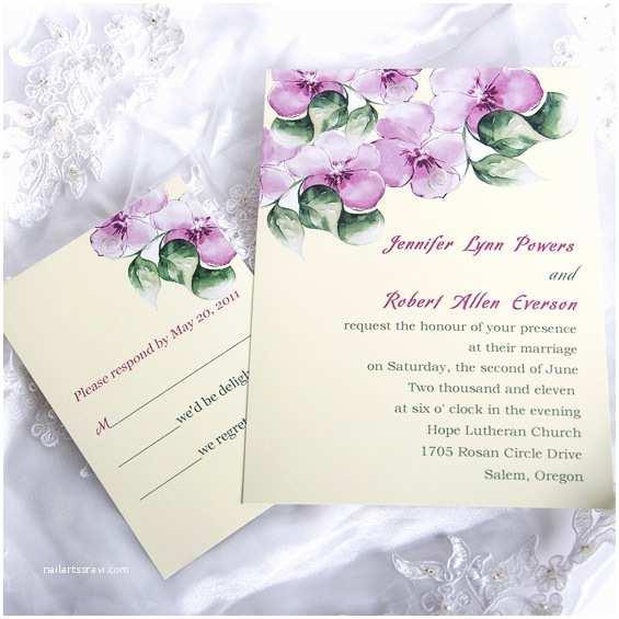 Morning Wedding Invitations Elegant Purple Morning Glory Affordable Flower Wedding
