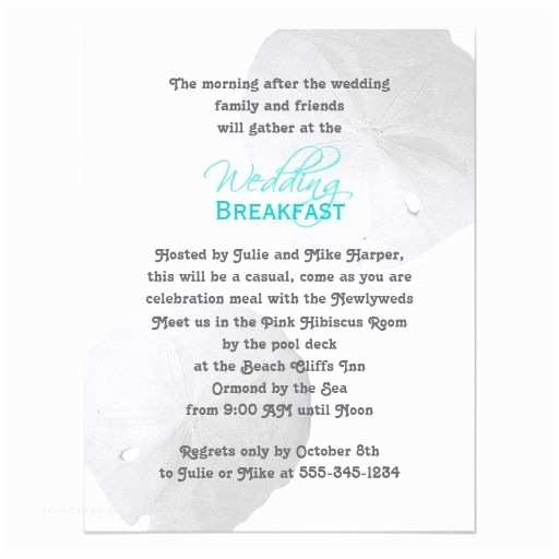 Morning Wedding Invitations Invitation To Brunch The Morning After Wedding Dont