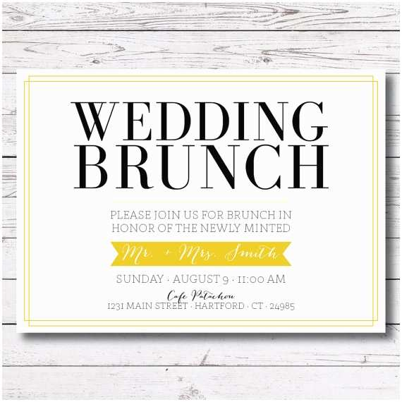 Morning Wedding Invitations Printable Wedding Brunch Morning After By