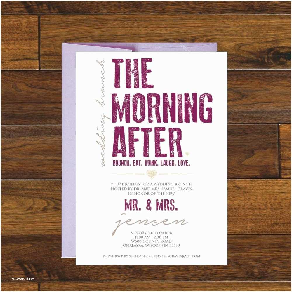 Morning Wedding Invitations The Morning After Post Wedding Brunch Invitation