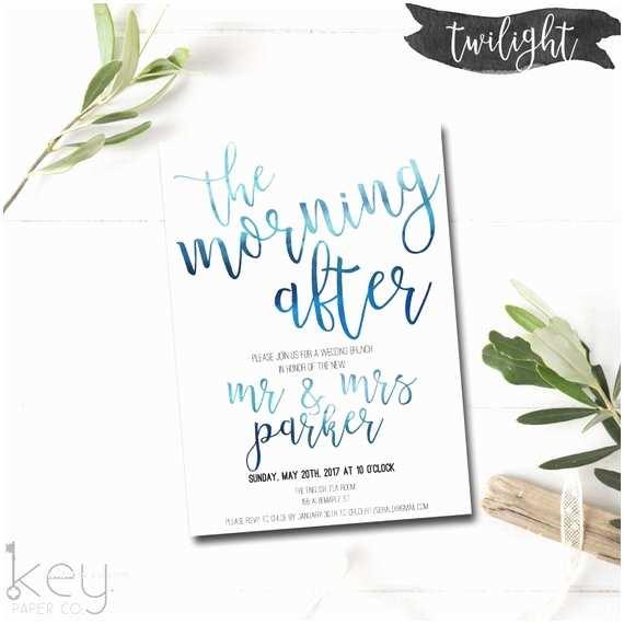 Morning  Invitations The Morning After Post  Brunch Invitation