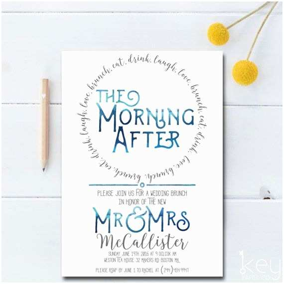 Morning Wedding Invitations the Morning after Wedding Brunch Invitation the Fun Doesnt
