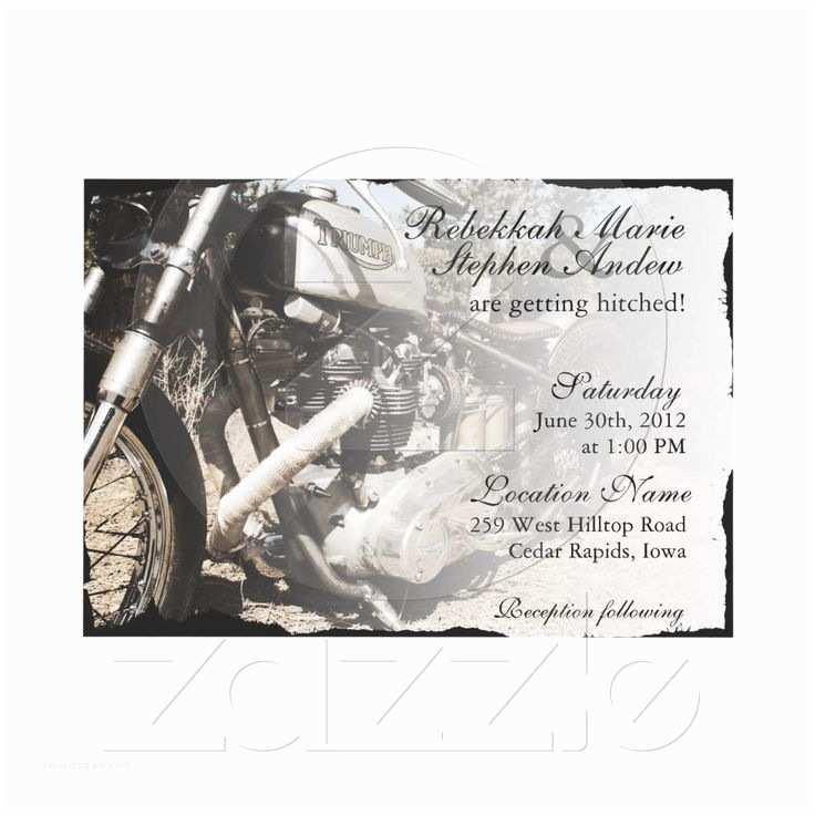 Motorcycle Wedding Invitations 17 Best Images About Biker Harley Davidson Wedding Ideas