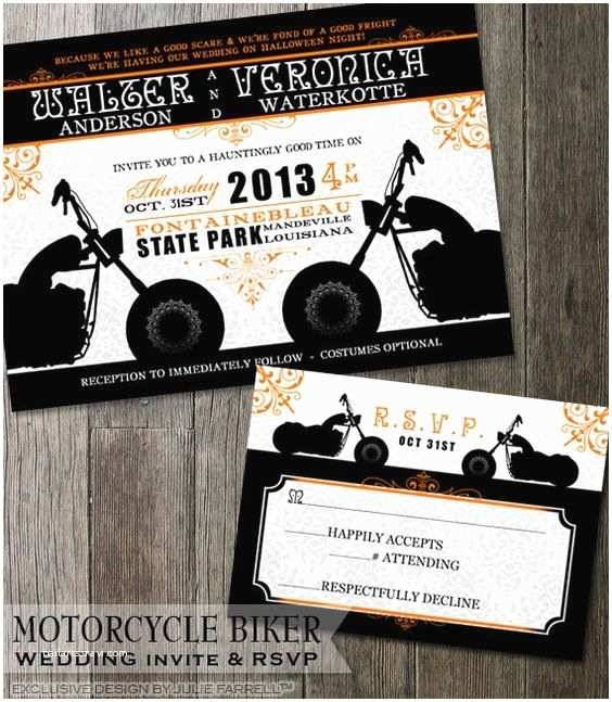 Motorcycle Wedding Invitations Biker Motorcycle Wedding Invitation Diy Printable Invite
