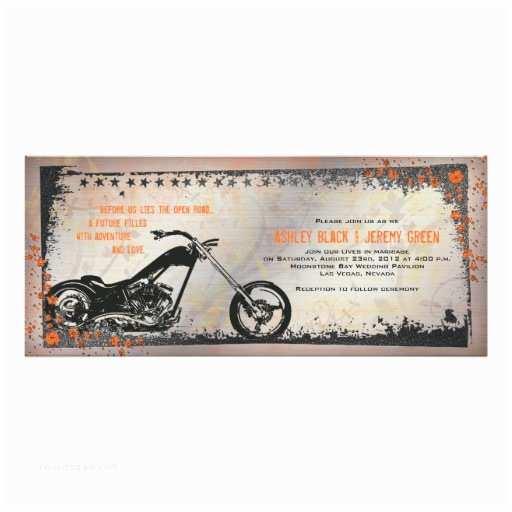 Motorcycle Wedding Invitations Biker or Motorcycle Wedding Invitation
