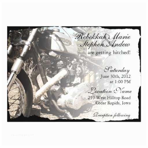 Motorcycle Wedding Invitations Custom Motorcycle Biker Wedding Invitation