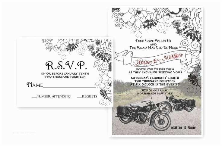 Motorcycle Wedding Invitations Impressive Motorcycle Wedding Invitations