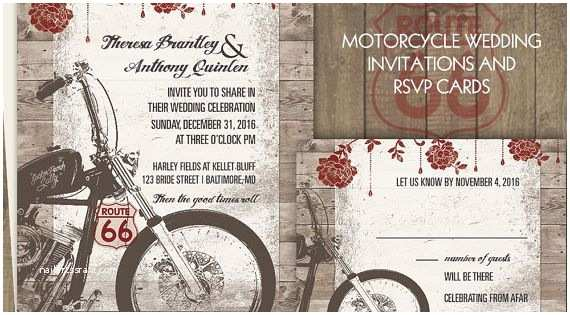 Motorcycle Wedding Invitations Motorcycle Wedding Invitations Biker Bride Wedding
