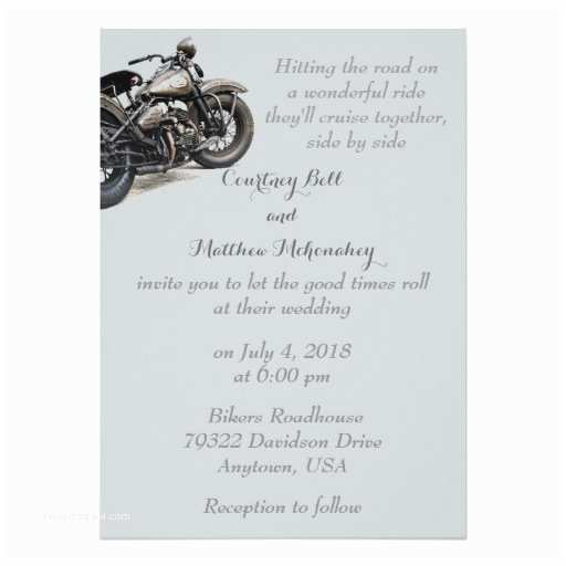 Motorcycle Wedding Invitations Shades Of Grey Motorcycle Wedding Invitation