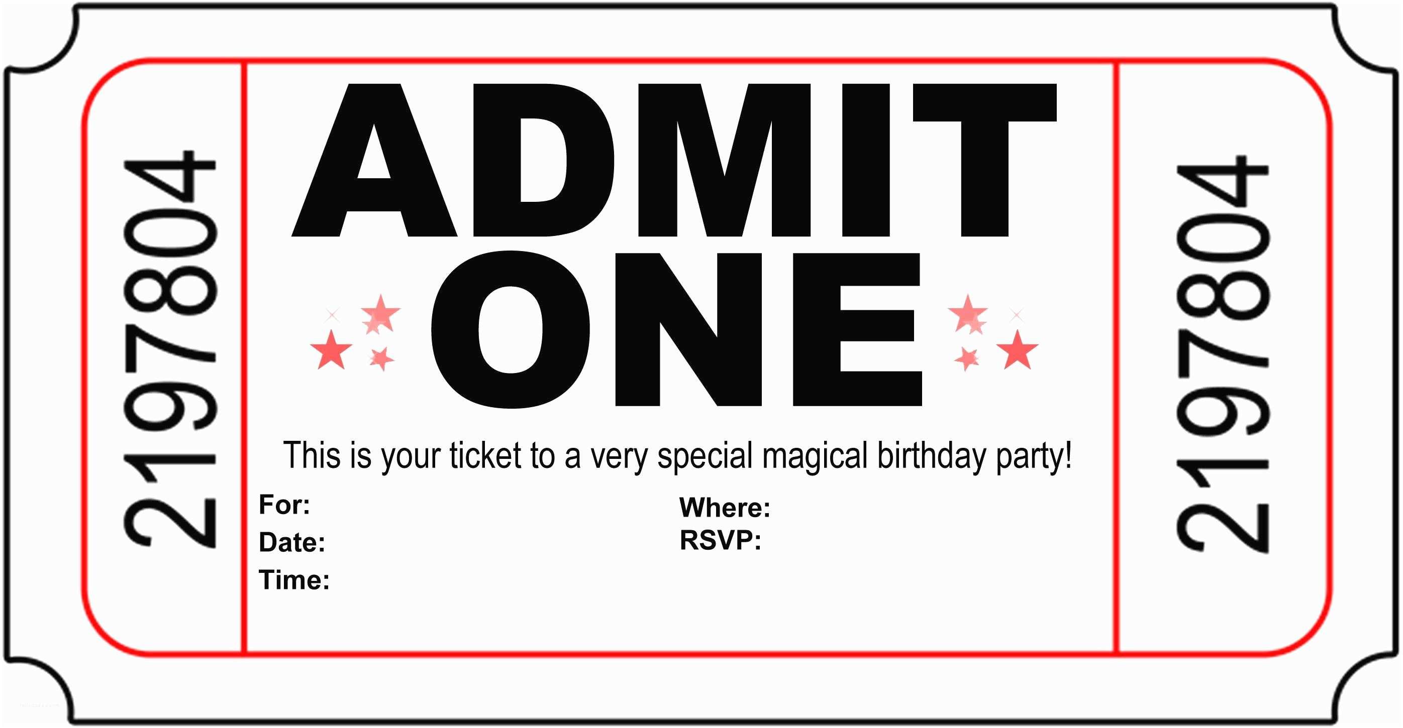 Movie Birthday Party Invitations Birthday Party Invitation Free Printable