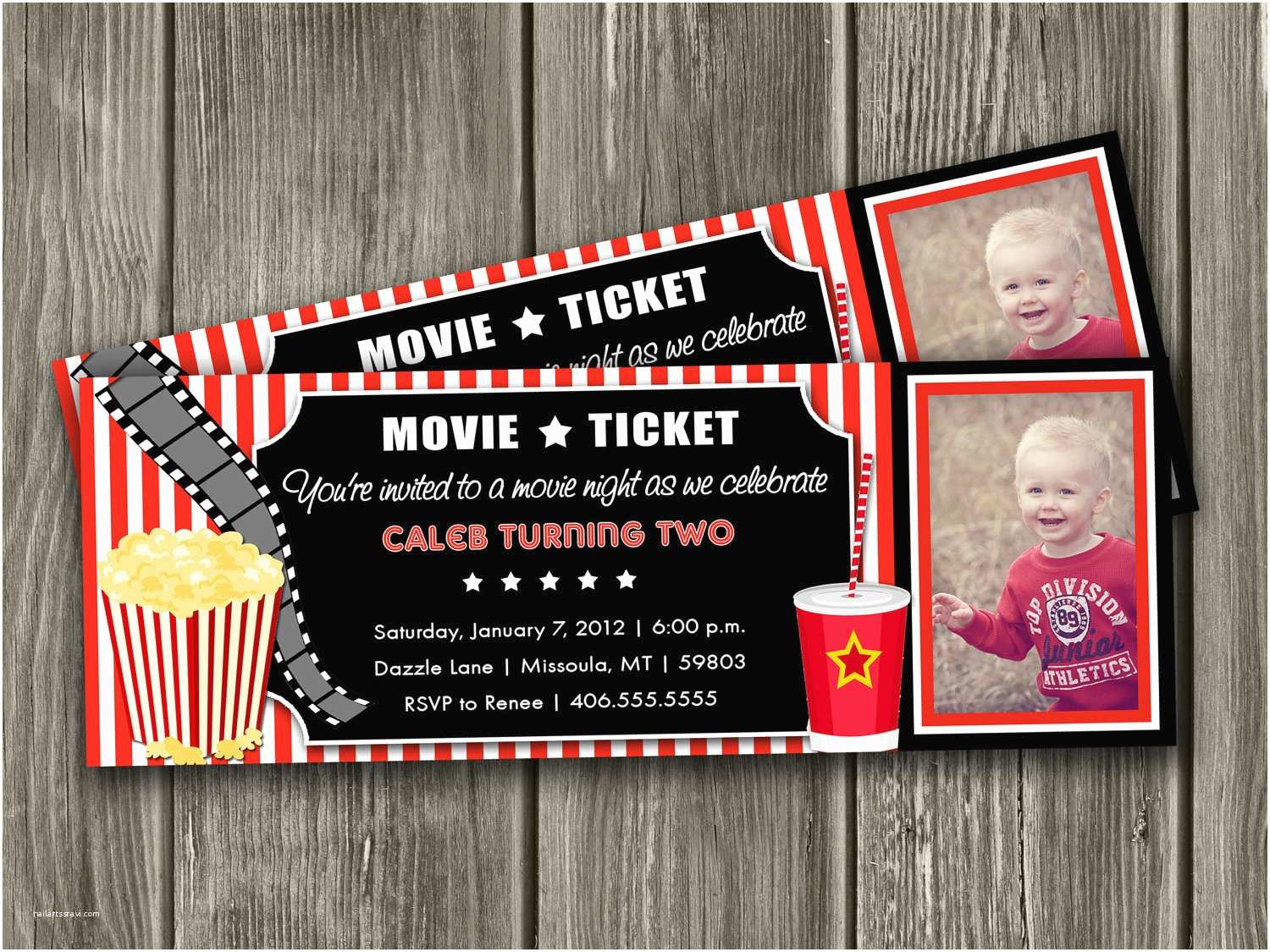 """Movie Birthday Party Invitations Search Results for """"disney Blank Printable Movie Ticket"""