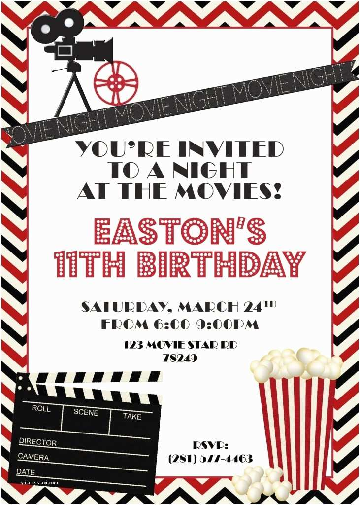 Movie Party Invitations 1000 Ideas About Movie Party Invitations On Pinterest