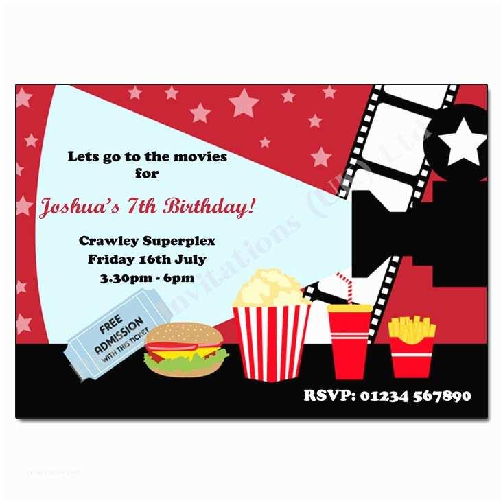 Movie Party Invitations Cinema Invitation