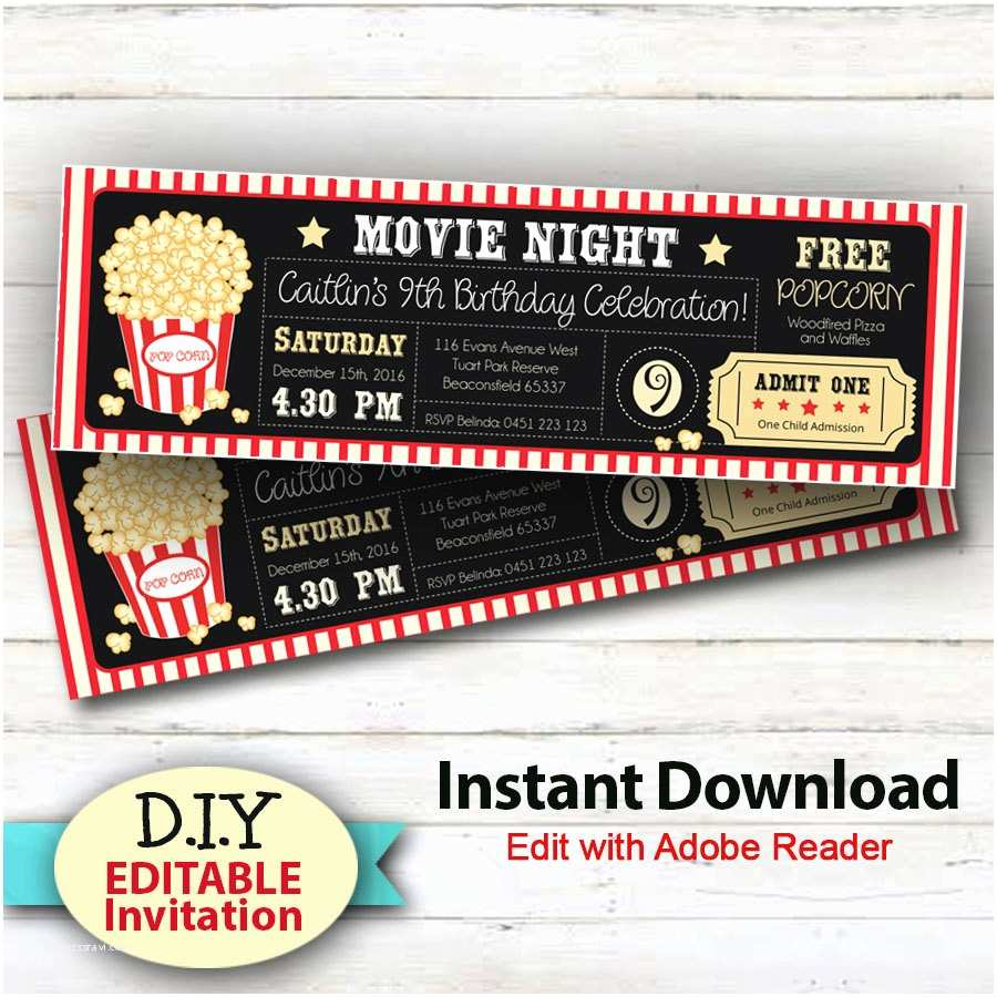 editable instant movie party