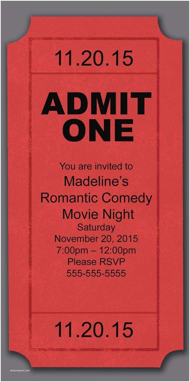 Movie Party Invitations Movie Night Party Invitation Birthday Invitations From