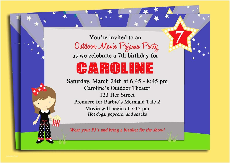 Movie Party Invitation Printable