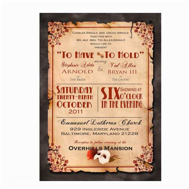 Movie Theater Wedding Invitations 77 Best Plan My Debutante Ball Images On
