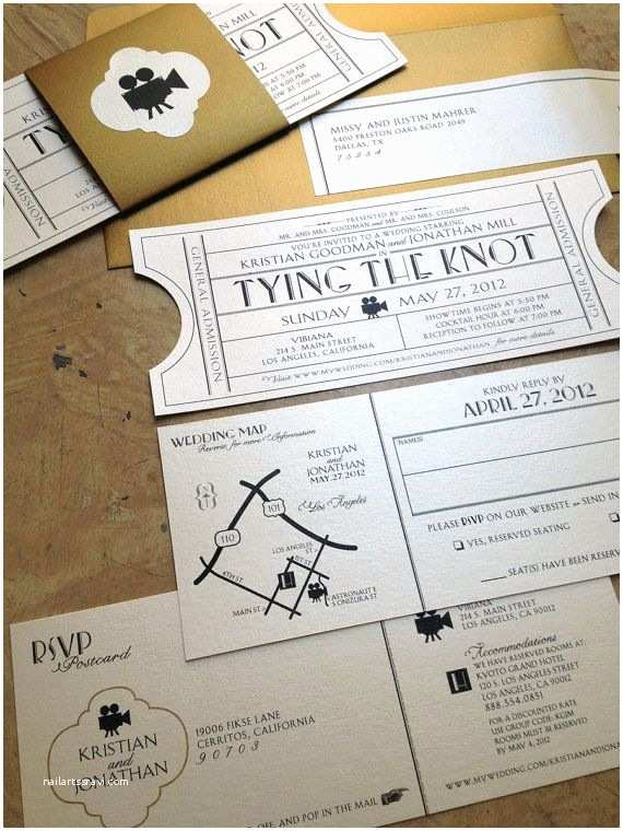 Movie theater Wedding Invitations Best 25 Ticket Invitation Ideas On Pinterest