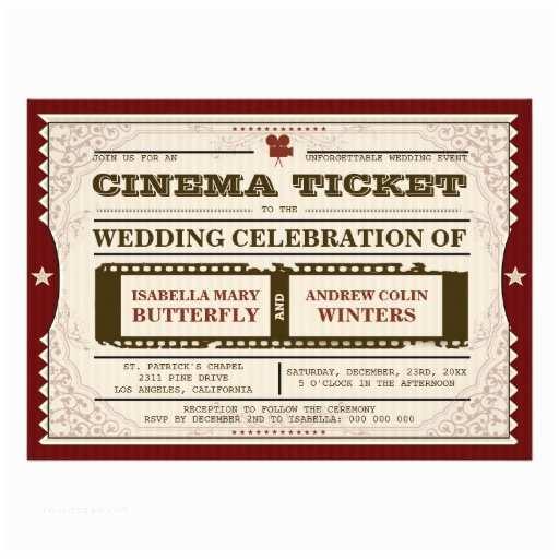 Movie Theater Wedding S Cinema Ticket Wedding