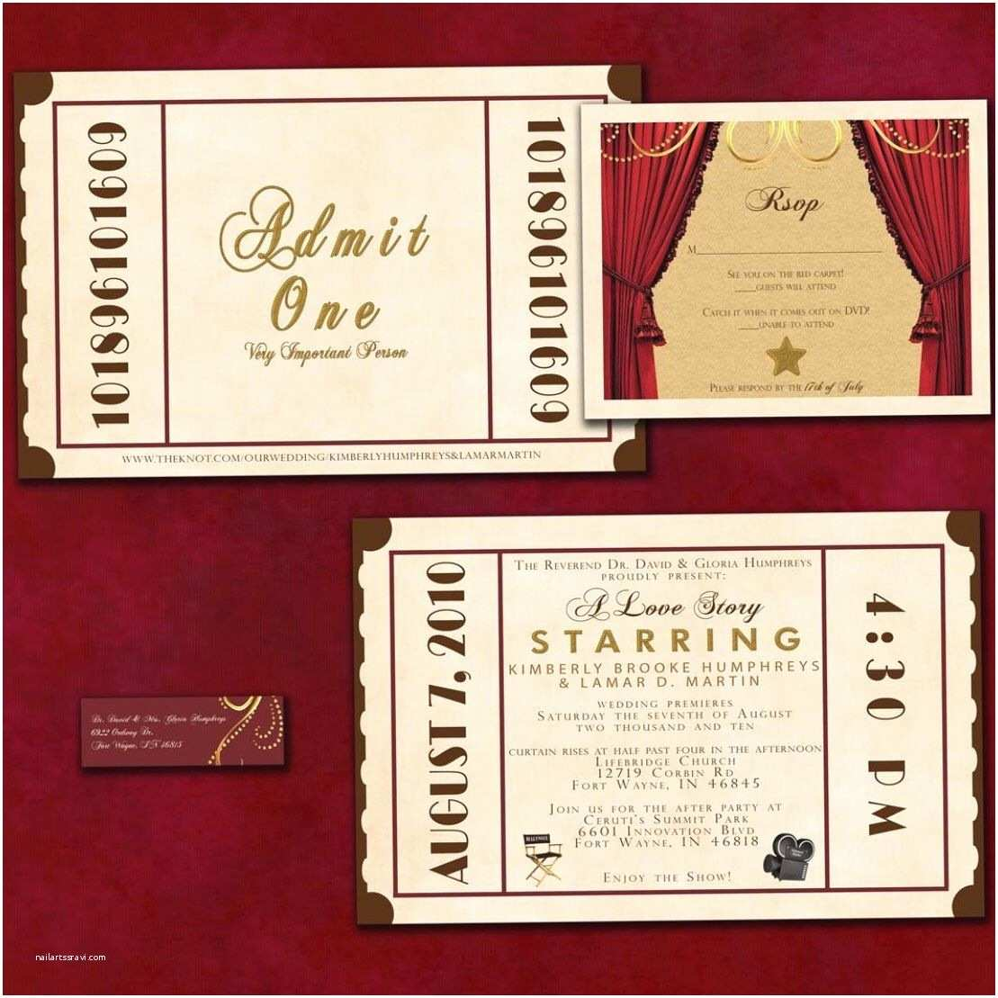 Movie theater Wedding Invitations Having A theater Inspired Wedding or event Check Out My