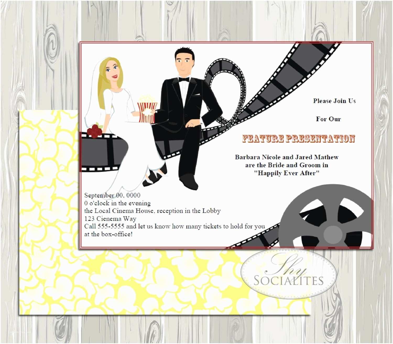 Movie Theater Wedding Invitations Movie Themed Wedding Invitation Movie Theater Wedding