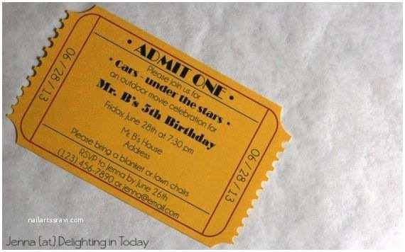 Theater Wedding Invitations  Ticket Invitation  Invitation Free