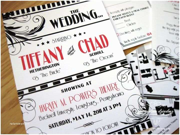 Movie Theater Wedding Invitations The 32 Best Images About Theater Themed Wedding Things