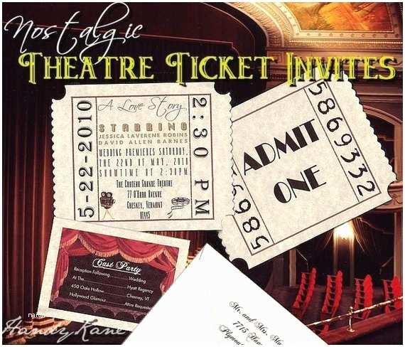 Movie Theater  Invitations Unique Movie Star Hollywood Theatre Cinema Ticket
