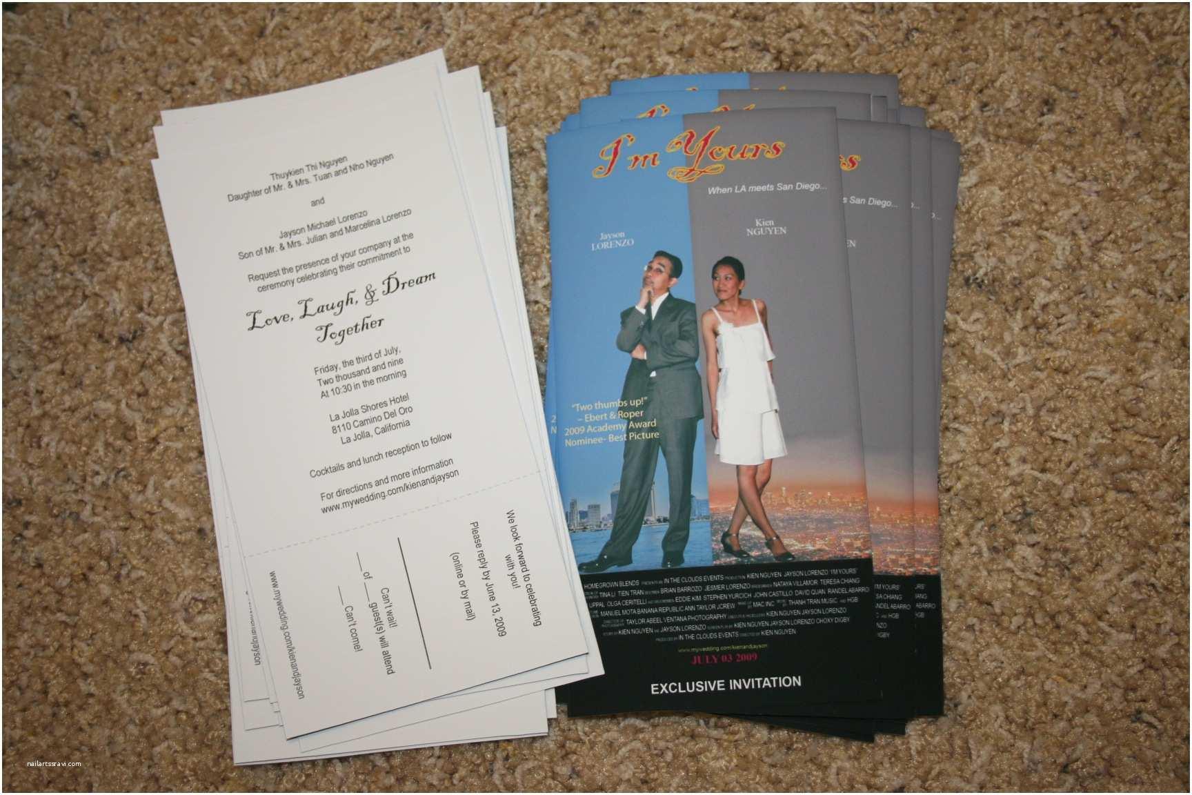 Movie Ticket Wedding Invitations Awe Inspiring Movie Ticket Wedding Invitations
