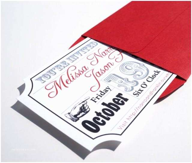 Movie Ticket Wedding Invitations Invitation Movie Ticket Wedding Invitation Sample
