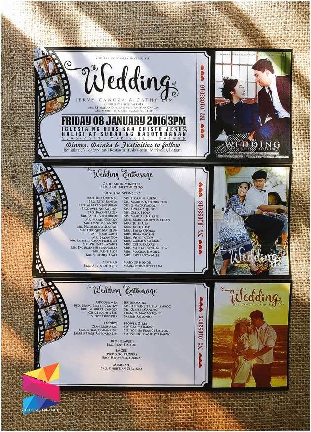 Movie Ticket Wedding Invitations Jervy & Cathy Movie Ticket themed Wedding Invitation