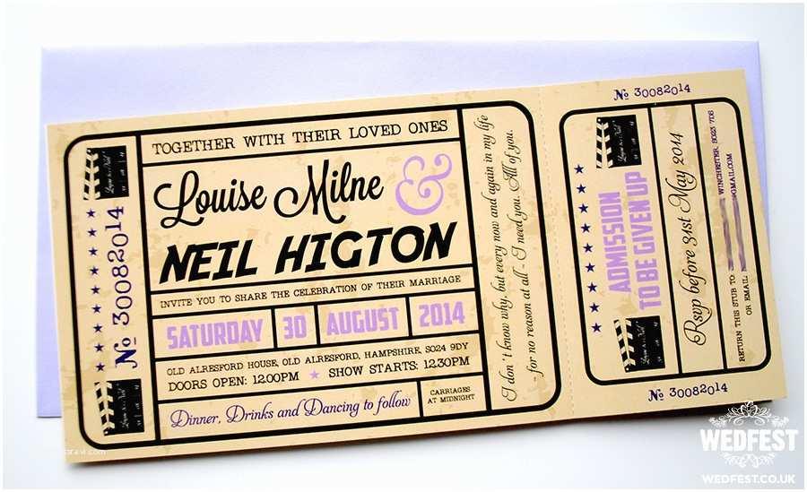 Movie Ticket Wedding Invitations Movie Ticket Wedding Invitations