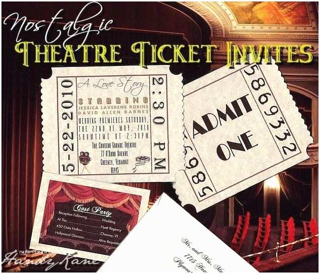 Movie Ticket Wedding Invitations Unique Movie Star Hollywood theatre Cinema Ticket Wedding